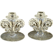 Fostoria Willowmere Etched Candleholders
