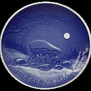 Bing & Grondahl 1962 Christmas Plate Winter Night B&G