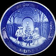 Royal Copenhagen 1990 Christmas Plate Christmas at Tivoli