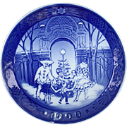 Royal Copenhagen 1990 Christmas Plate Christmas at Tivoli