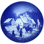 Bing & Grondahl 1994 Christmas Plate A Day at the Deer Park B&G
