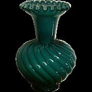 Fenton Jamestown Blue Overlay Vase