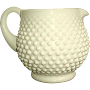 Fenton Milk Hobnail Squat Jug 32 oz Juice Pitcher