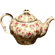 Lefton Rose Chintz Teapot