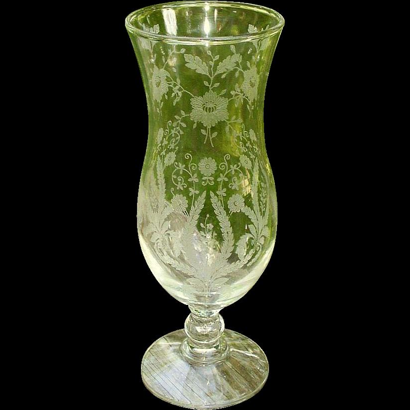 New Martinsville/Viking Prelude Etched  7539 Vase