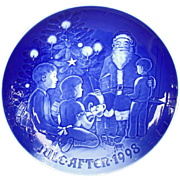 Bing & Grondahl 1998 Christmas Plate Santa the Storyteller B&G
