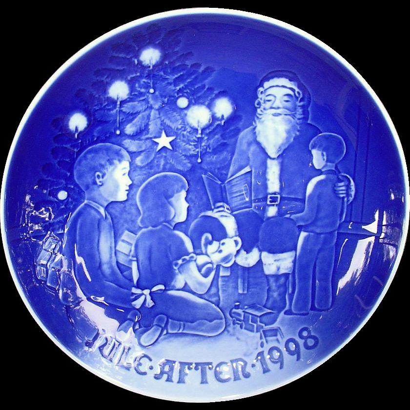 Bing & Grondahl 1998 Christmas Plate Santa the Storyteller B&G