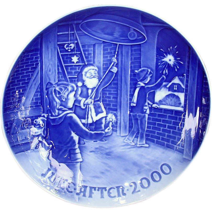 Bing & Grondahl 2000 Christmas Plate Christmas at the Bell Tower B&G