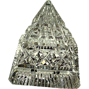 Waterford Crystal Pyramid Paperweight