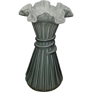 Fenton Wheat Stalk Vase Blue/Gray