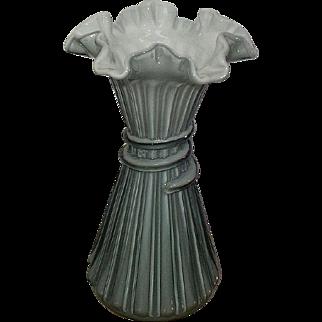 Fenton Wheat Stalk Vase Blue/Gray