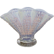 Fenton French Opalescent Hobnail Fan Vase