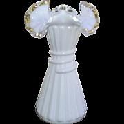 Fenton Silver Crest Wheat Stalk Vase