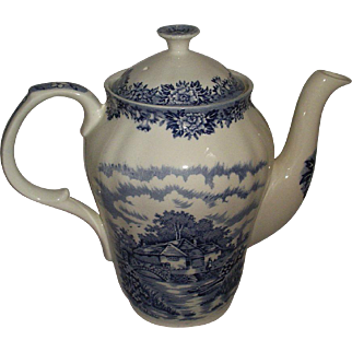 English Village Scarce Coffeepot Salem China England Coffee Pot