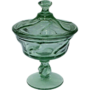 Jostoria Jamestown Green Covered Jelly Compote