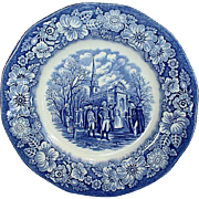 Liberty Blue 6 Salad Plates Leaving Christchurch