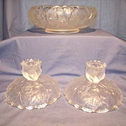 Fenton 3 pc Water Lily Set