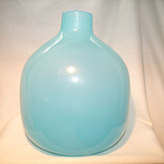 Opaline Blown Art Glass Vase