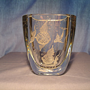 Strombergshyttan Engraved Vase - Red Tag Sale Item