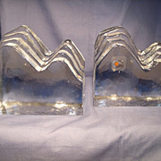 Blenko Mountains Bookends