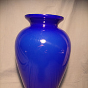 Tall Cased Blue Pilgrim Vase