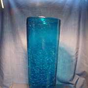 "Blenko  Blue 12"" Hurricane Shade"