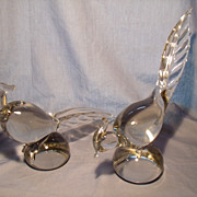 Pair Tiffin Glass  Pheasants