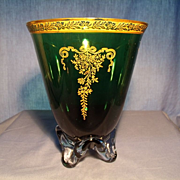 Tiffin Killarney Green Vase