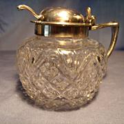 C.1885 Adams Mustard Jar with Spoon