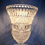 Intricate Cut Crystal Anglo Irish Vase