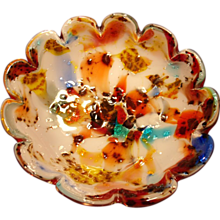 Colorful Vintage Murano Bowl