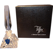 Tiffin, Towle Cut Crystal Perfume Bottle