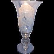 Tall Tiffin Bubble Stem Vase