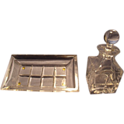 Cotte Crystal Perfume Bottle and Tray