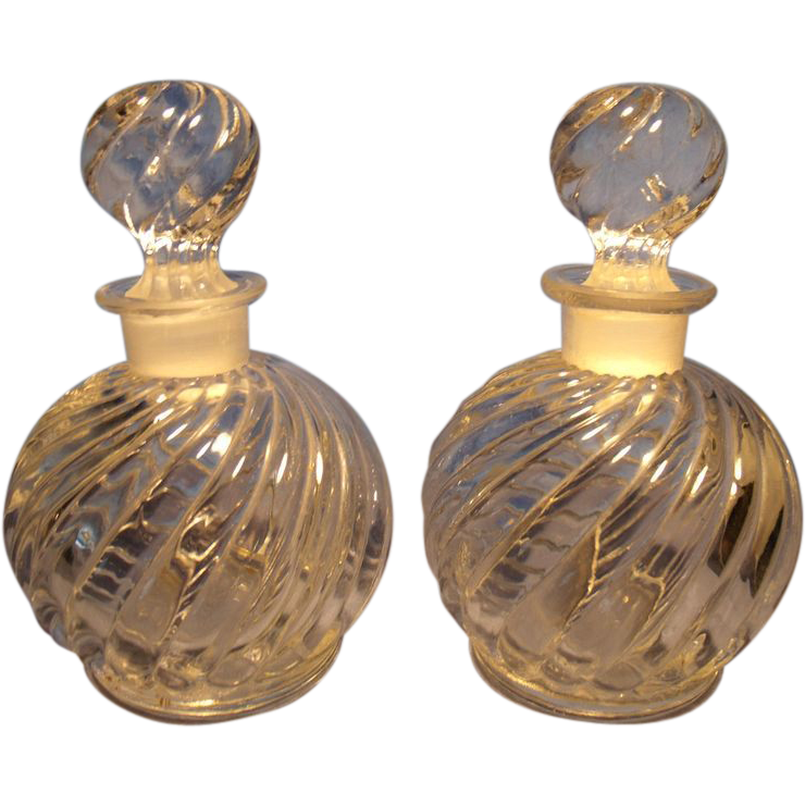 Pr Czech Perfume/Cologne Bottles from glassalley on Ruby Lane