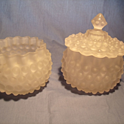 Hobbs c 1890 Dewdrop Serving Pieces