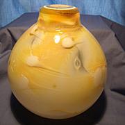 Large Art Glass Gourd Vase