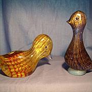 Pair of Ferro Murano Birds