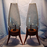 Cool Fifties Rocket Candleholders