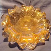 Mid Century Murano Petal Bowl