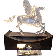 """Swarovski """"Fabulous Creatures"""" Pegasus with Stand and Plaque"""