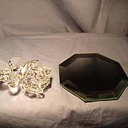Swarovski Rose and Display Mirror