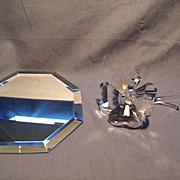 Swarovski 4 Leaf Clover and Display Mirror
