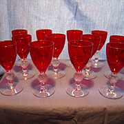 12 Spanish Red Golf Ball Liqueurs or Cordials