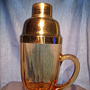 "Circa 1932 ""Moondrops"" Handled Cocktail Shaker"