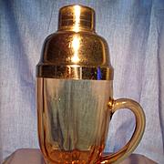 "Circa 1932 ""Moondrops"" Handled Cocktail Shaker"