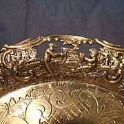 Antique Belgian Silver Tray