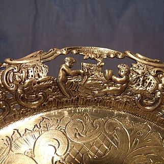 Antique Belgian Silver Tray