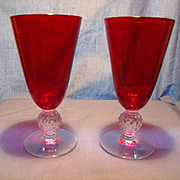 Pair of Morgantown Golfball Juice Glasses