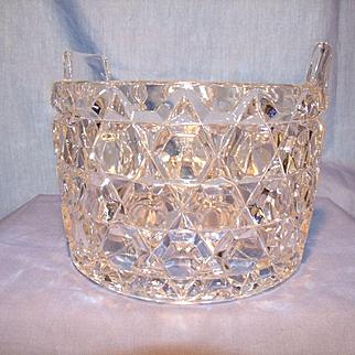 "Fostoria Glass ""Late Block""  Ice Tub"